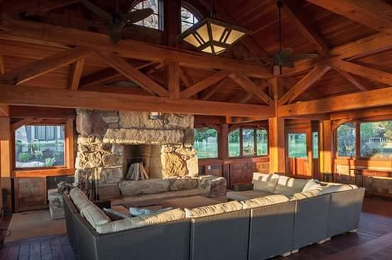 Interieur houten huis
