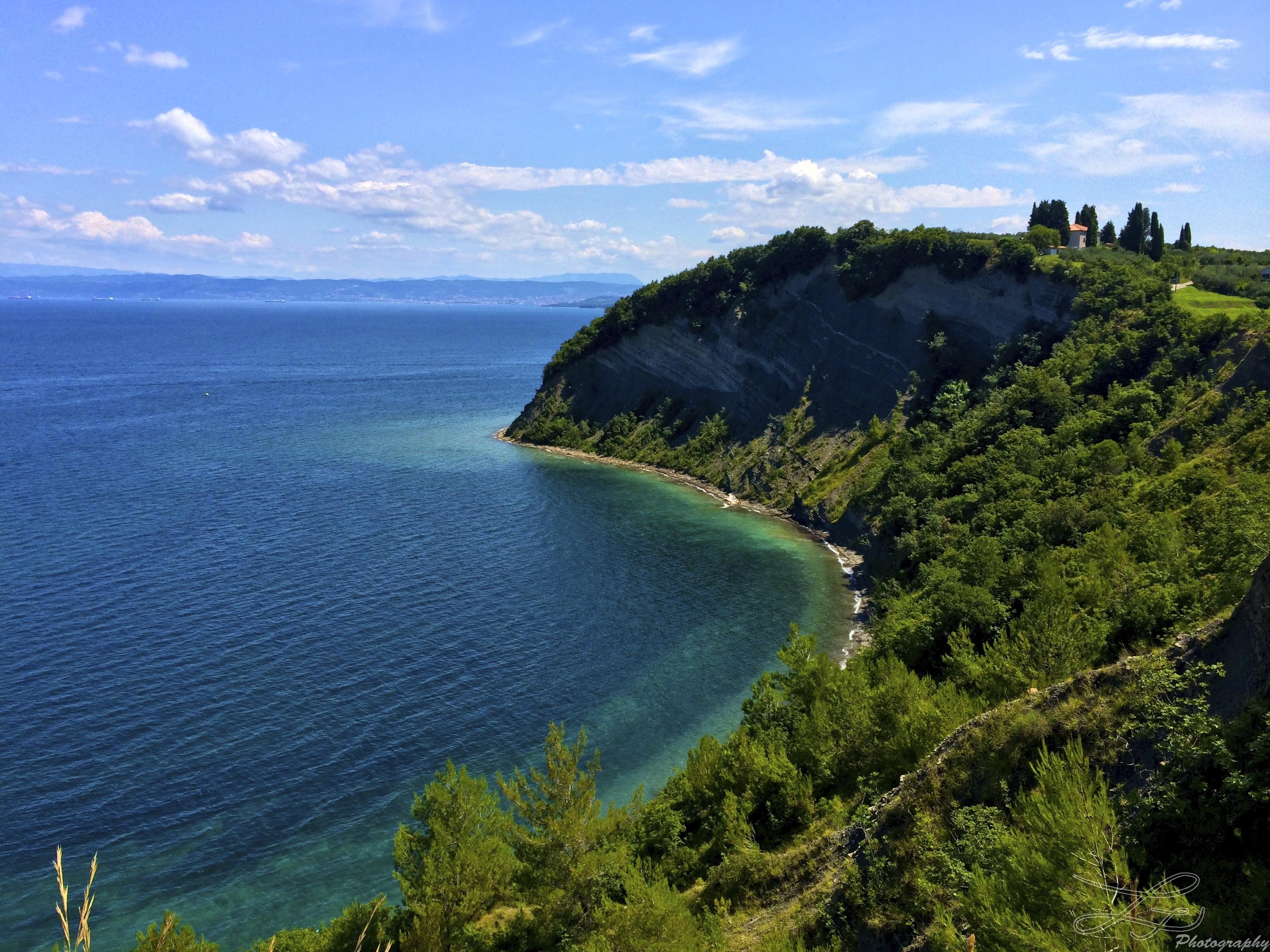 Slovenia Adriatische kust Strunjan Moonbay
